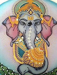 Dekorácie - Mandala  - Ochranná Ganeša - 7361510_