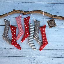 Dekorácie - Vianočné čižmičky - 7358286_