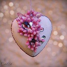 Dekorácie - Srdce - vianočná ozdoba - 7359465_