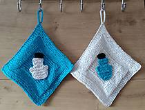 Úžitkový textil - zimné chňapky-snehuliačik - 7358727_