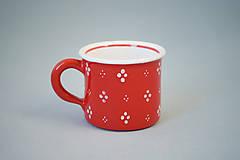Kafáč espresso 4puntík 6 červený