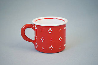 Nádoby - Kafáč espresso 4puntík 6 červený - 7361748_