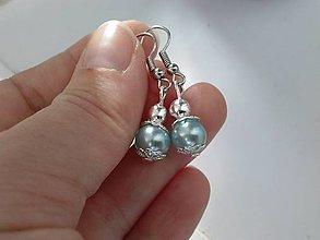 Náušnice - Silver & Mint - 7357409_