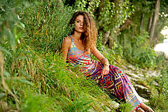 - Aztec goddess dlhé šaty  - 7359917_