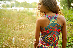 Šaty - Aztec goddess dlhé šaty - 7359918_