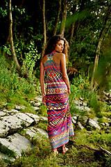 Šaty - Aztec goddess dlhé šaty - 7359919_