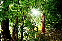Šaty - Aztec goddess dlhé šaty - 7359921_