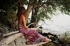 Šaty - Aztec goddess dlhé šaty - 7359925_