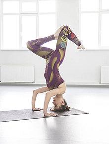 Iné oblečenie - Charkas Yoga set baklažán - 7356591_