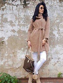 Kabáty - Kabátik vlnený béžový a ružový - 7357247_