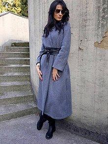 Kabáty - Maxi kabát sivý - 7357288_