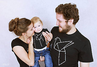 Oblečenie - Súprava tričiek pre rodinku HOLUBICA - 7358219_