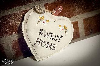 "Dekorácie - Srdiečko "" Sweet home"" - 7365670_"