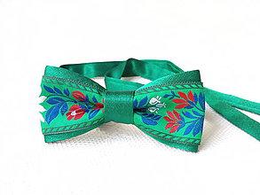 Náramky - Slovak folklore bracelet-necklace (green) - 7363130_