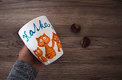 Nádoby - Mačičky hrnček - 7366634_