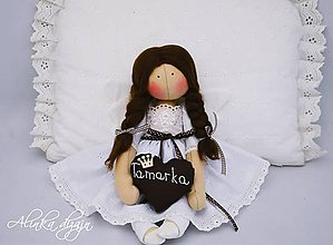 Bábiky - Bielo-čokoládový anjelik - 7365494_