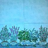 Papier - Servítky bylinky - 7366262_