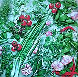 Papier - Servítka bylinky a zelenina - 7366277_
