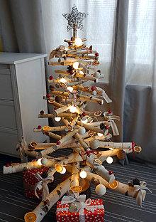 Dekorácie - Vianočný stromček breza - biela príroda - 7363369_