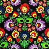 - S879 - Servítky - folk, ľudový motív, kvety, ornament - 7367311_