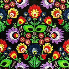 Papier - S879 - Servítky - folk, ľudový motív, kvety, ornament - 7367311_