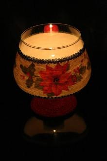 Svietidlá a sviečky - Svietnik - vianočná ruža - 7366991_