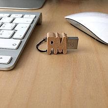 """Kľúčenky - """"drevený"""" mini USB kľúč - 7365522_"""