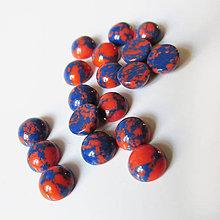 Minerály - Kabošon / 6mm (Tyrkys imit. modrooranžový) - 7365502_