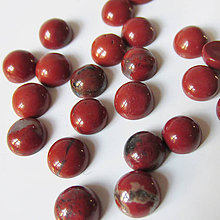 Minerály - Kabošon / 6mm (Jaspis červený) - 7365585_