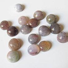 Minerály - Kabošon / 6mm (Indický achát svetlé odtiene) - 7365742_
