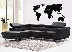 Dekorácie - Mapa sveta na stenu (výška 60 cm, šírka 120 cm - Šedá - PVC 3mm) - 7366340_