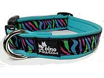 Pre zvieratká - Obojok Color Zebra Blue - 7367042_