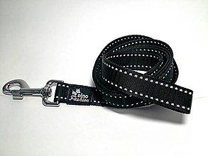 Pre zvieratká - Reflexné vodítko čierne (šírka 2,5 cm) - 7363774_