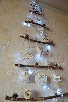 Dekorácie - Vianočný stromček biely - 7363792_