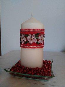 Svietidlá a sviečky - vianočná sviečka - 7363534_