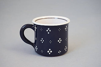 Nádoby - Espresso hrneček - černý (temněmodrý) - 7362113_