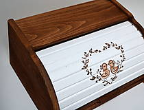 Nádoby - Chlebník ručne maľovaný - 7362095_