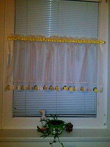 Dekorácie - Hotová šitá vitrážna záclona - 7362446_