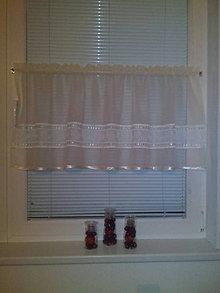 Dekorácie - Hotová šitá vitrážna záclona. - 7362497_