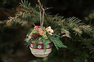 """Dekorácie - Vianočná guľa (nielen) na stromček """"folkový koník"""" - 7362186_"""