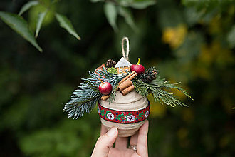 """Dekorácie - Vianočná guľa (nielen) na stromček """"folková perníková chalúpka"""" - 7362222_"""