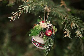 """Dekorácie - Vianočná guľa (nielen) na stromček """"folková holubička mieru"""" - 7362266_"""