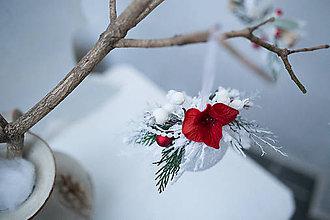 """Dekorácie - Vianočná guľa """"zasnežená vianočná ruža"""" - 7362335_"""