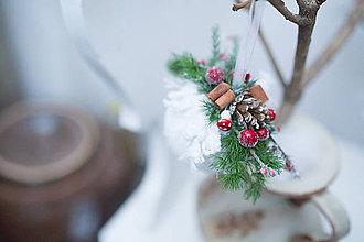 """Dekorácie - Vianočná guľa """"zasnežená muchotrávka"""" - 7362358_"""