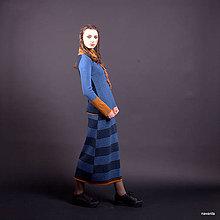 Sukne - DANDRA- jemně vzorovaná maxisukně - 7366846_