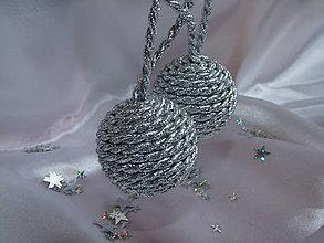 Dekorácie - Točené vianočné gule - strieborné - 7364499_