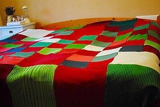 Úžitkový textil - Vianočná prikrývka - 7361957_