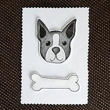 Papiernictvo - Psia pohľadnica (bostonský teriér) - 7362062_