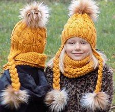 Detské čiapky - Horčicovy setik... - 7370350_