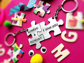 Kľúčenky - PUZZLE always&forever - 7372075_